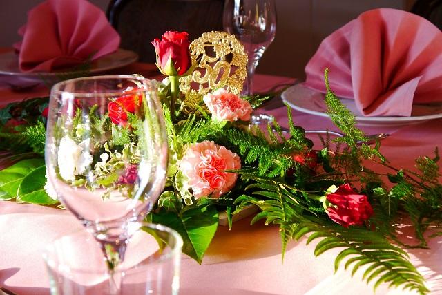 結婚式のテーブル