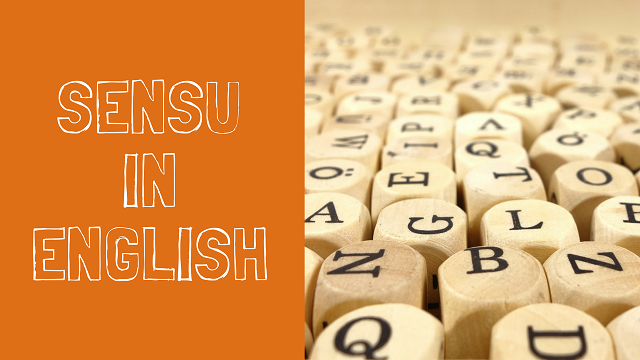 SENSU IN ENGLISH
